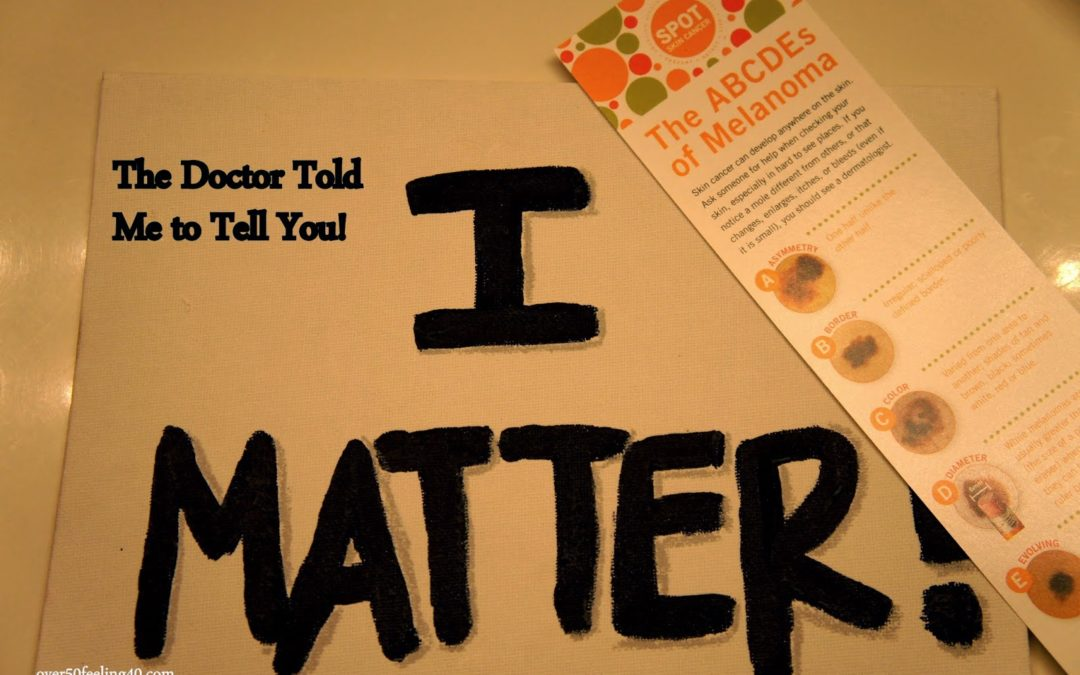 I MATTER MEANS LISTEN TO THE DOCTOR!  PLUS…the Thursday Blog Hop!