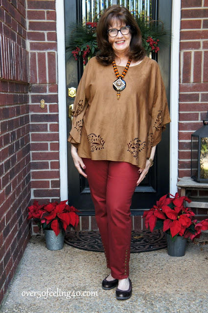 """The Look of Suede"" for Fall Fashions Over 50"