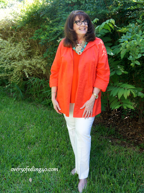 Fashion Over 50 Work Attire:  Solid Color on Solid Color