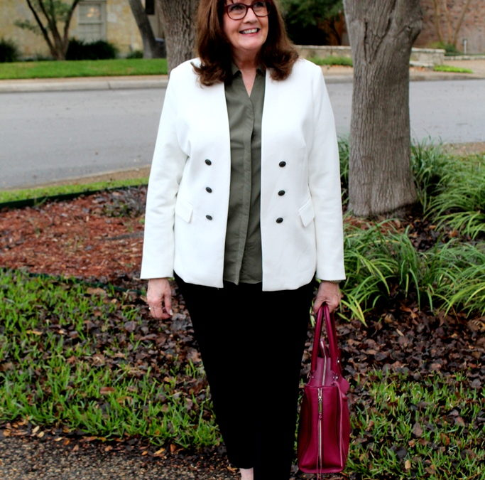 Spring Wardrobe Staples:  The White Jacket