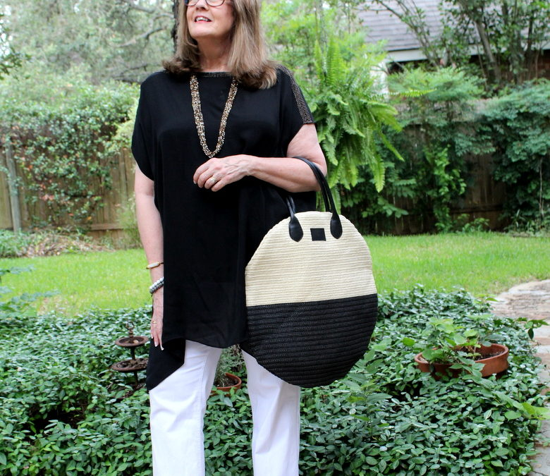 Summer Night Fashion Over 50 and A New Handbag Brand