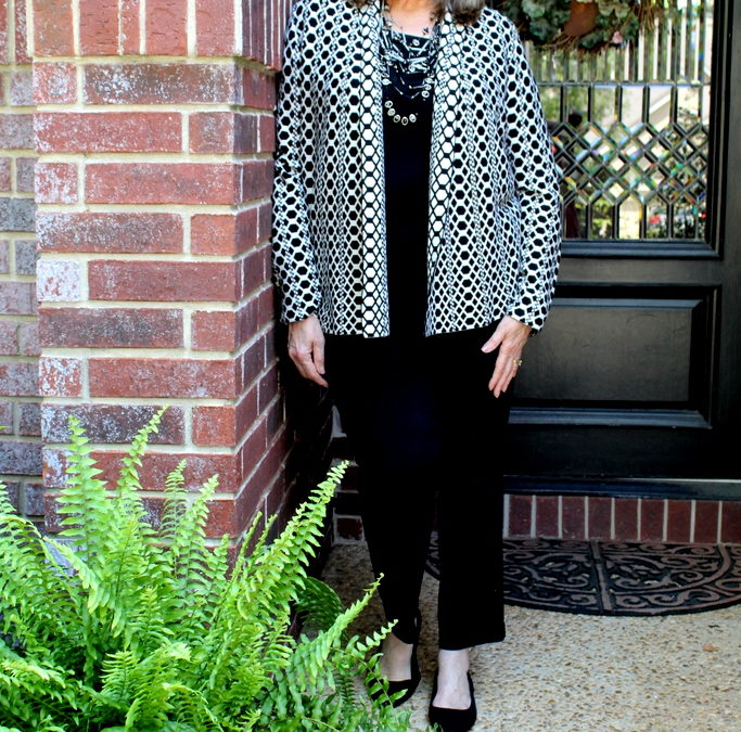 Fashion Over 50: Black & White Always Works