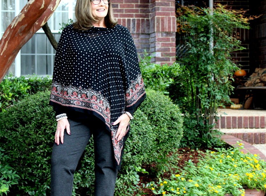 Fashion Over 50: Early Fall in Capes and Ponchos