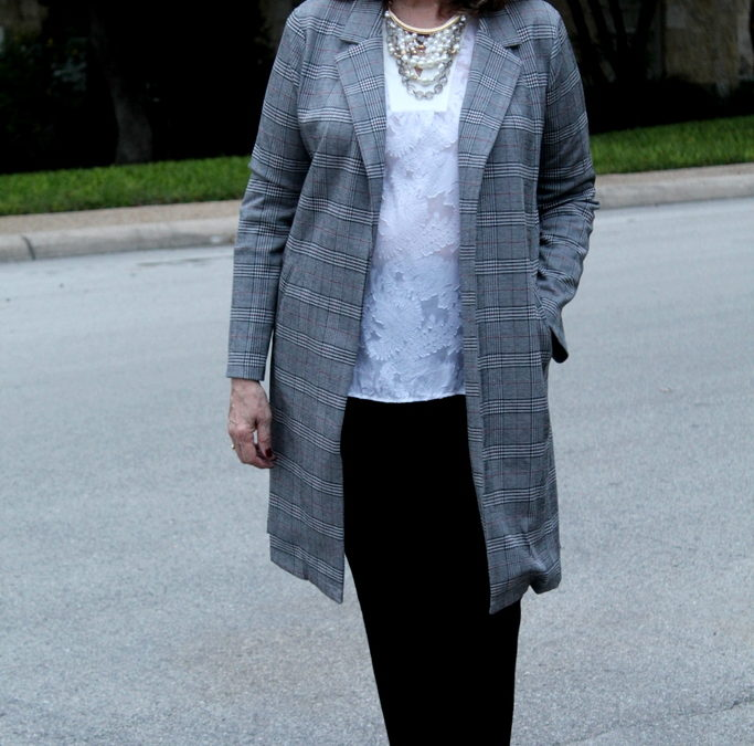 Fashion Over 50: Plaid, Pearls, and Lace