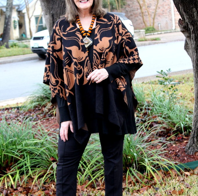 How to Style A Wrap – Look #1 Featuring Ruanas