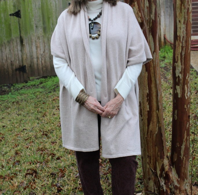 How to Style A Wrap – Look #2 with a Maybe Poncho