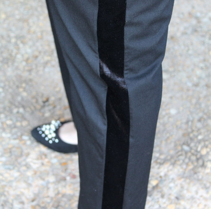 How to Wear Tuxedo Pants: Look #1