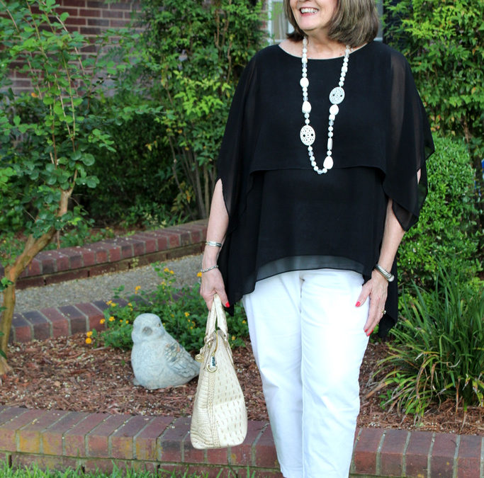 How Wearing Black & White Can Make A Casual Summer Evening Nicer
