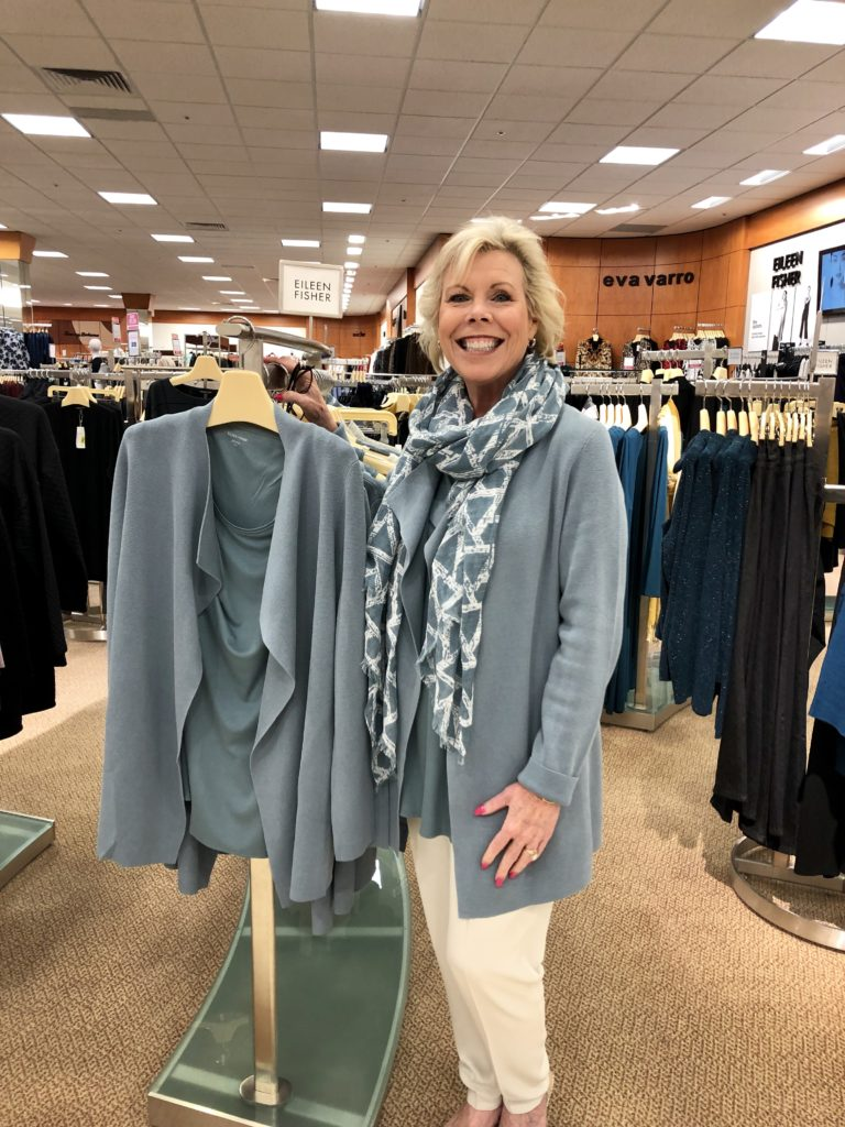 Pamela Lutrell at )ver 50 Feeling 40 spends an afternoon at Dillards in The Shops of La Cantera