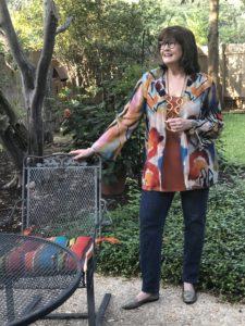 Pamela Lutrell wears a Soft Surroundings Taos Cardi