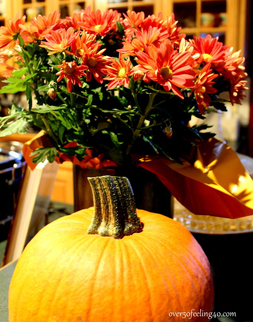 Over 50 Feeling 40 discusses fall centerpieces