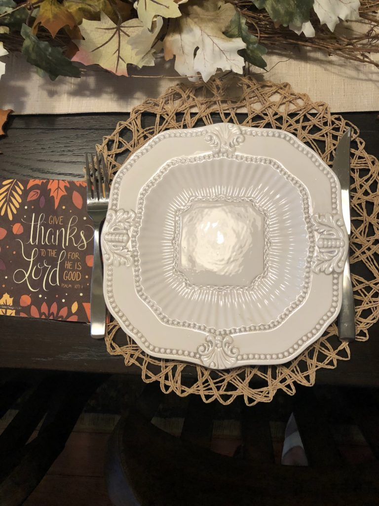 Over 50 Feeling 40 Autumn Dinner Table Setting