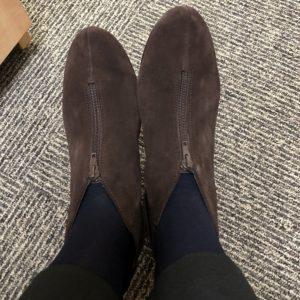 Pamela Lutrell in booties from Macys