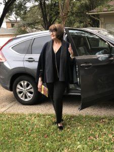 Pamela Lutrell wears rented style