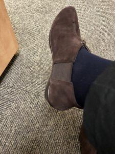 Pamela Lutrell in Fall booties