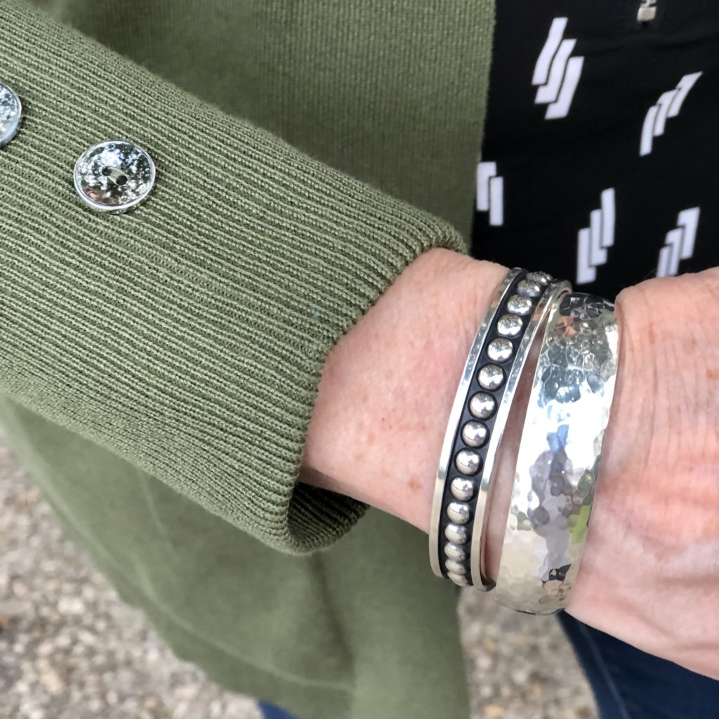 Over 50 Feeling 40 wears James Avery Silver Bracelets