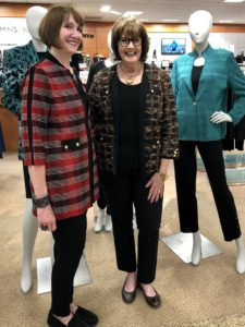 Pamela Lutrell of Over 50 Feeling 40 learns more about Ming Wang at Dillards