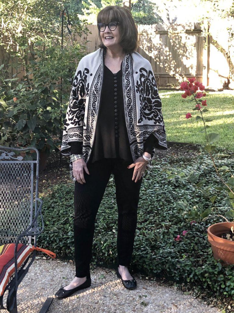 Over 50 Feeling 40 Styling Black Leggings by Joan Vaas
