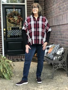 Pamela Lutrell wear fall plaids for casual Friday
