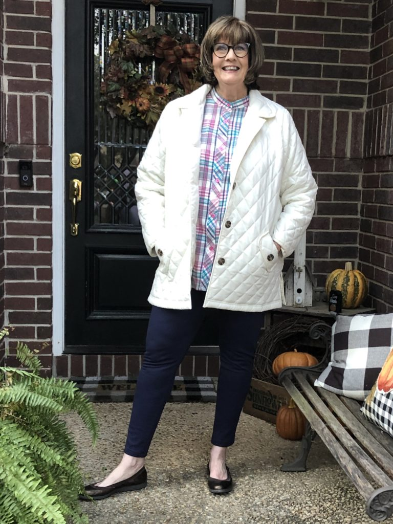 Over 50 Feeling 40 in a Fall Legging Outfit from Blair