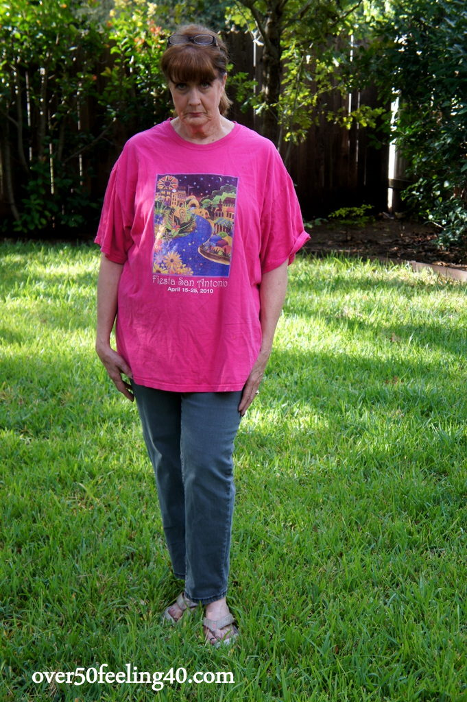 Over 50 Feeling 40 says goodbye to tee shirts