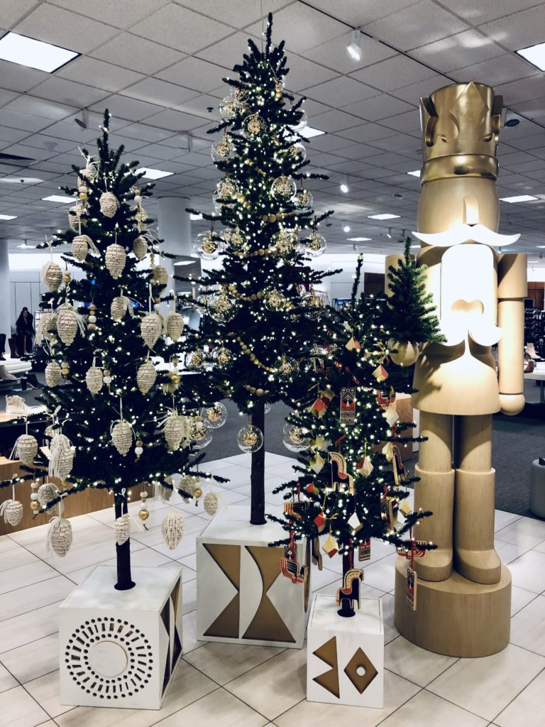 Pamela Lutrell shares Christmas display at Nordstrom