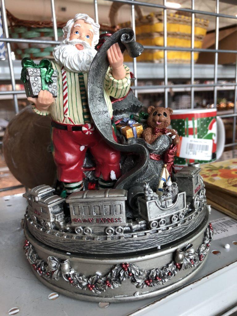 Pamela Lutrell finds a Santa Music Box at Goodwill