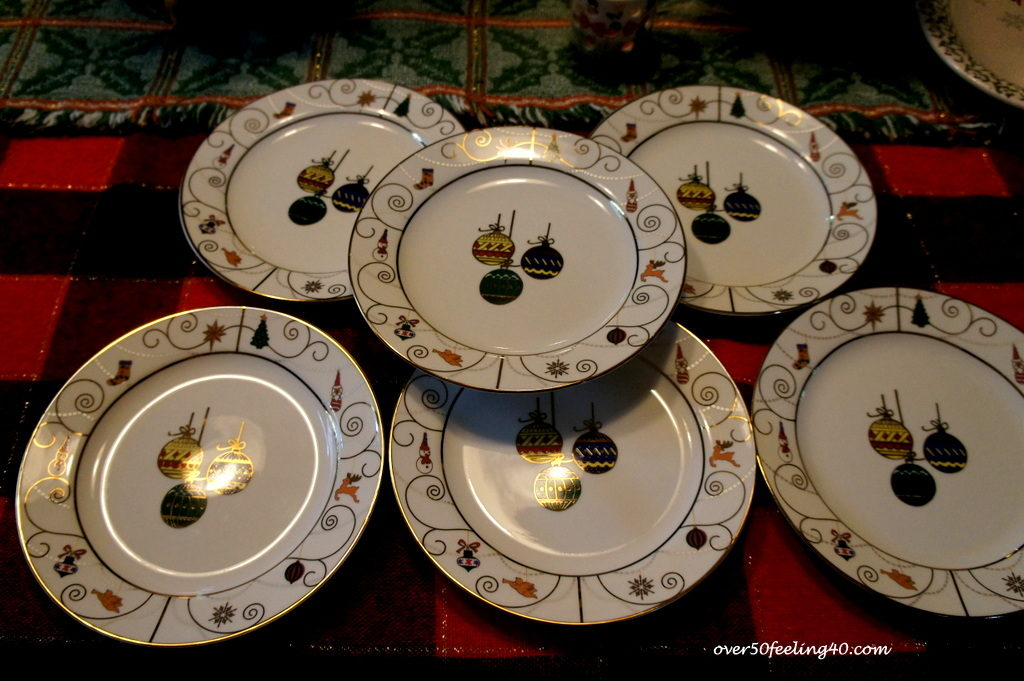 Pamela Lutrell saves on Christmas plates