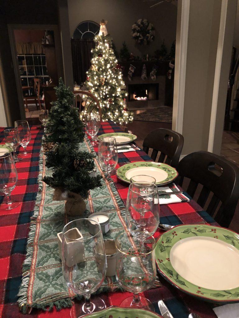 Pamela Lutrell hosts a Christmas dinner party