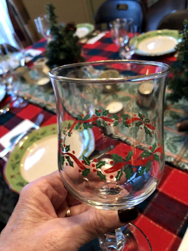 Pamela Lutrell finds holiday wine glasses in thrift shop