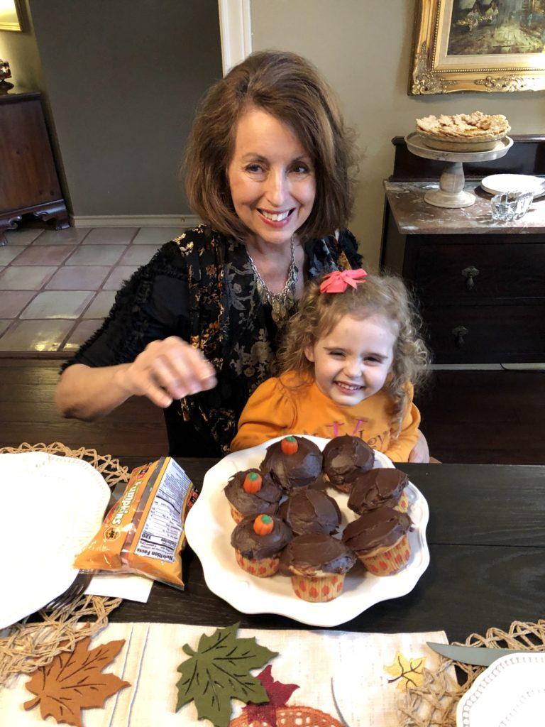 Pamela Lutrell shares granddaughter helping decorate.