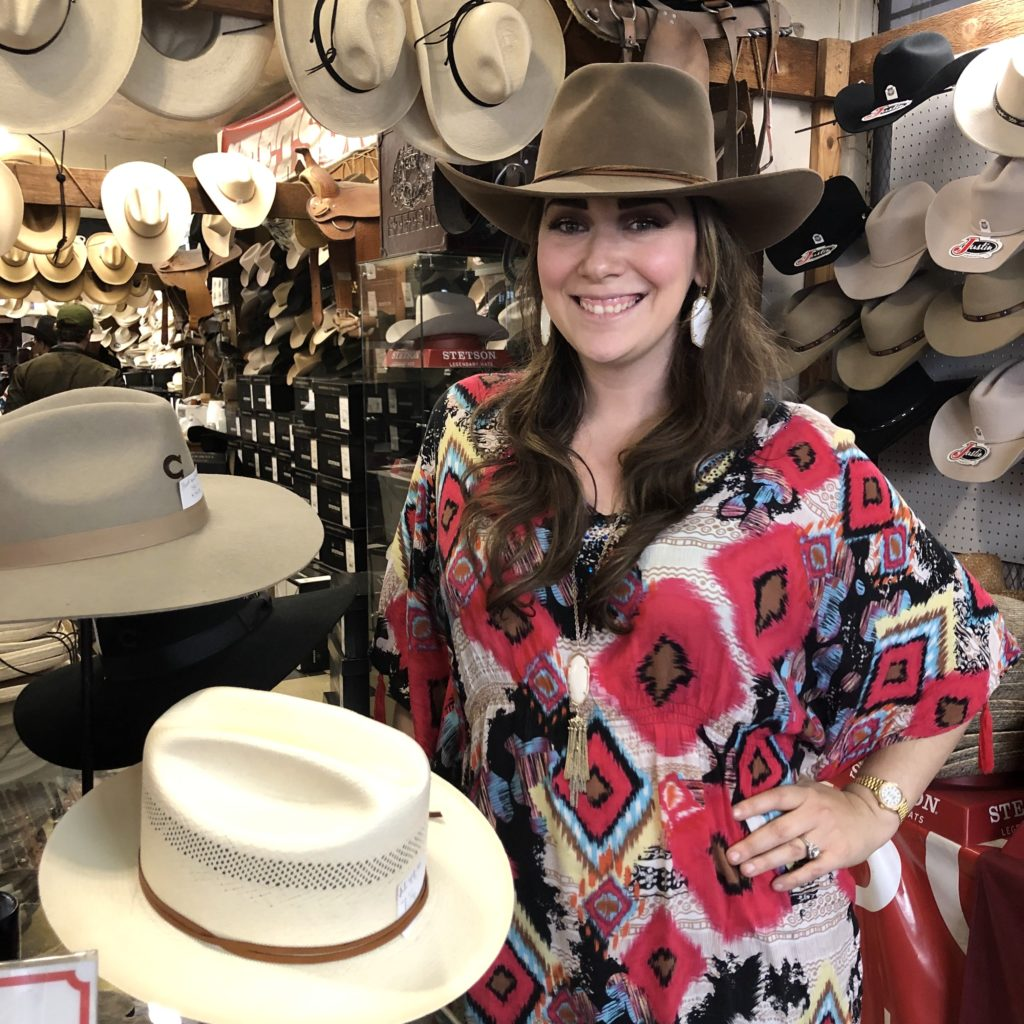 Pamela Lutrell visits Paris Hatters