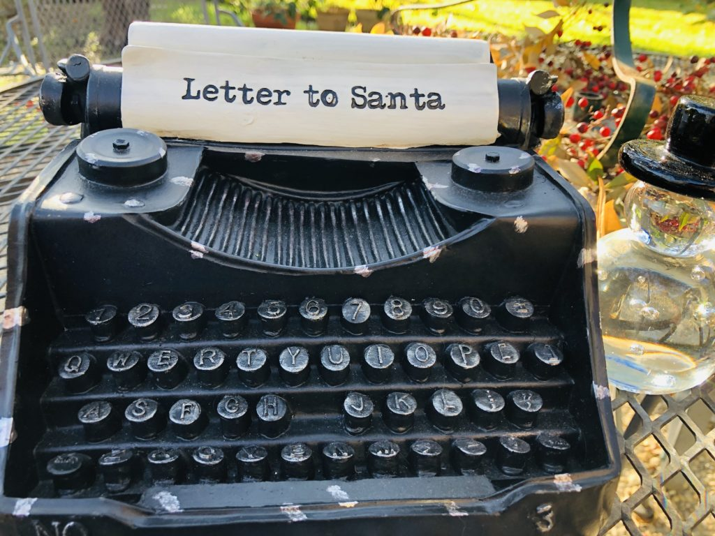 Pamela Lutrell writes her Christmas list
