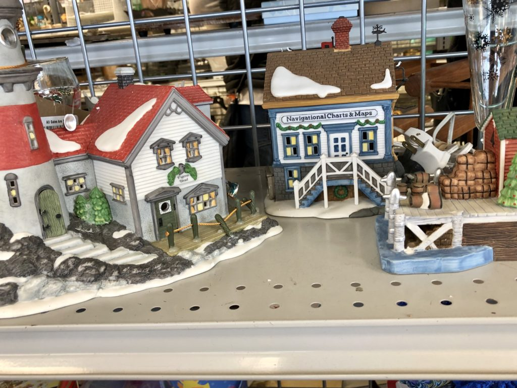 Pamela Lutrell discovers Christmas Villages at Goodwill