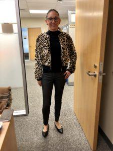 Pamela Lutrell likes the leopard jacket