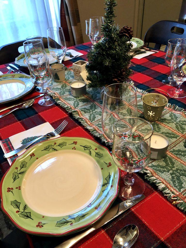over 50 feeling 40 Christmas table setting