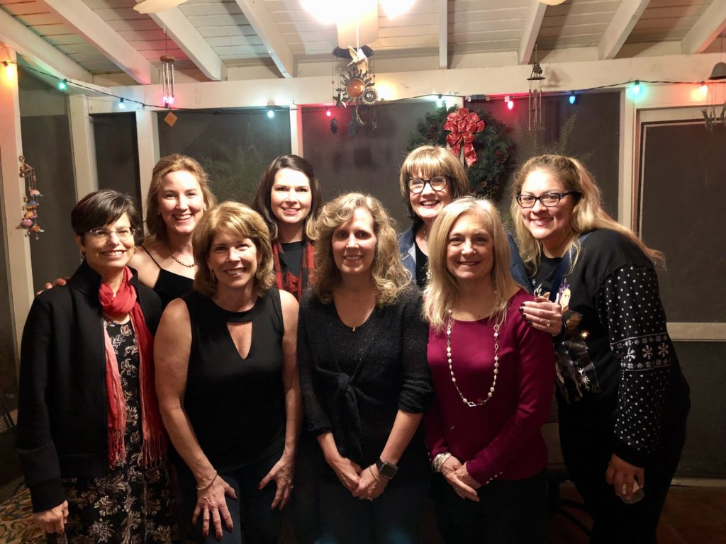 Pamela Lutrell and Friends at casual Christmas Party