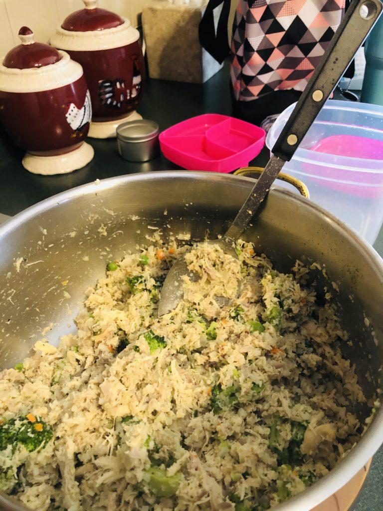 Pamela Lutrell's protein bowl mixture