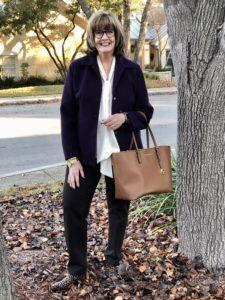 Pamela Lutrell finds shorter jackets at Goodwill