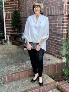 Pamela Lutrell recommends faux leather for women over 50
