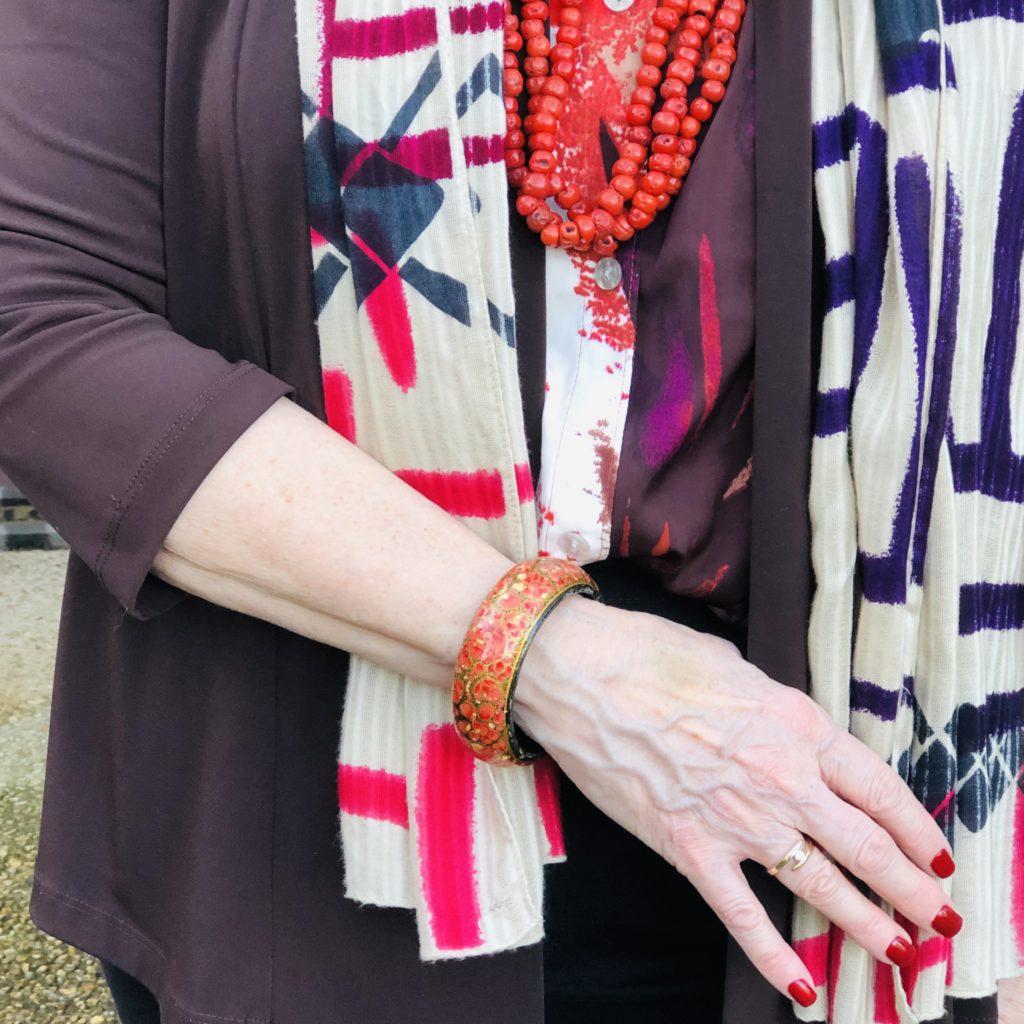 Pamela Lutrell's Iris Apfel inspired styling