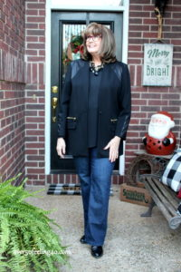 Pamela Lutrell ads current designs to a classic wardrobe