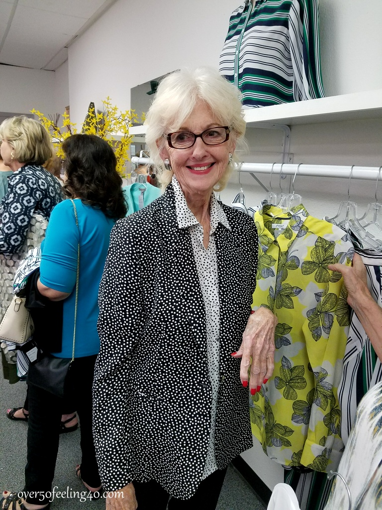 Pamela Lutrell with brave style decisions