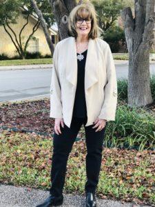 Pamela Lutrell in $27 Chico's jacket