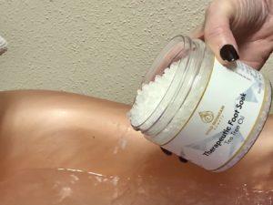 Pamela Lutrell for Gold Mountain Beauty foot soak