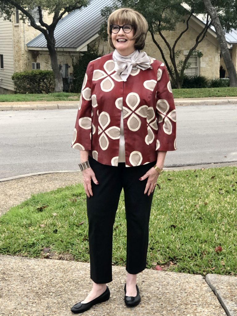 Pamela Lutrell in new Chicos Jacket