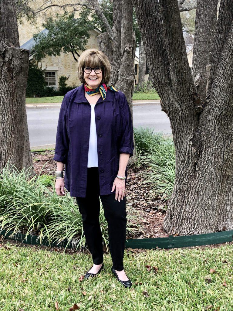 Pamela Lutrell in Chicos jacket