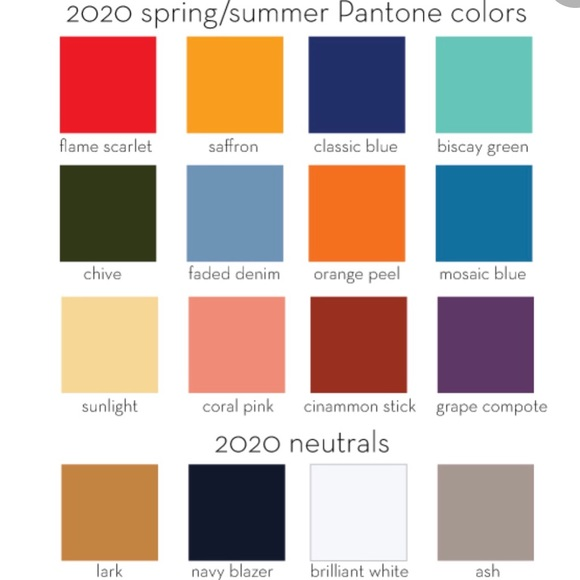 Over 50 Feeling 40 with Pantone Colors for spring 2020