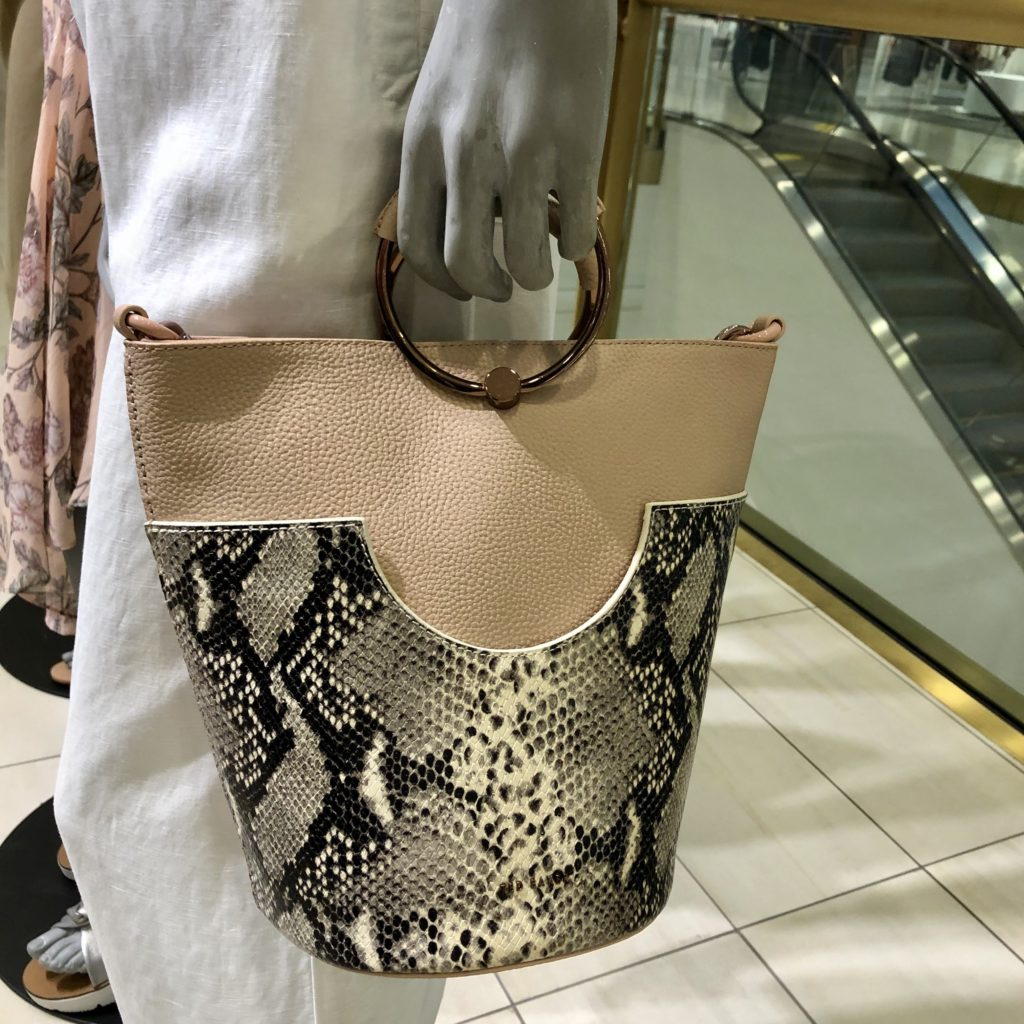 Pamela Lutrell with purse at Nordstrom