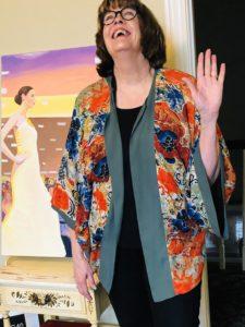 Pamela Lutrell wears joy to her in home job